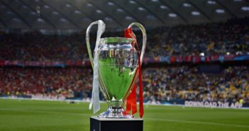 Champions League trofæet før finalen i 2018 i Kiev