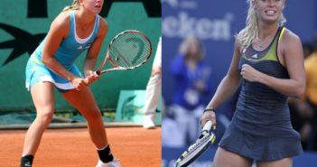 Sammensat billeder af Johanna Larsson og Caroline Wozniacki.